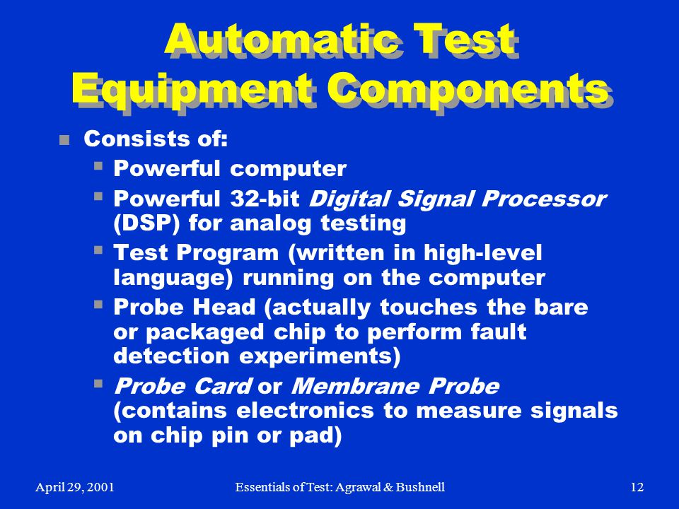 Automatic Test Equipment Components