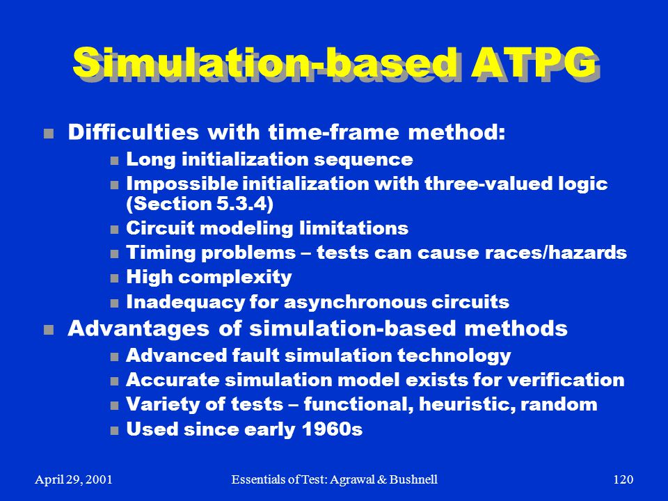 Simulation-based ATPG