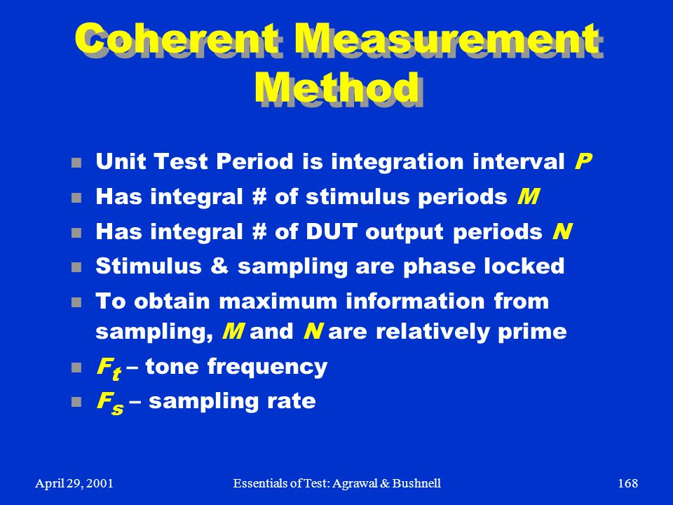 Coherent Measurement Method