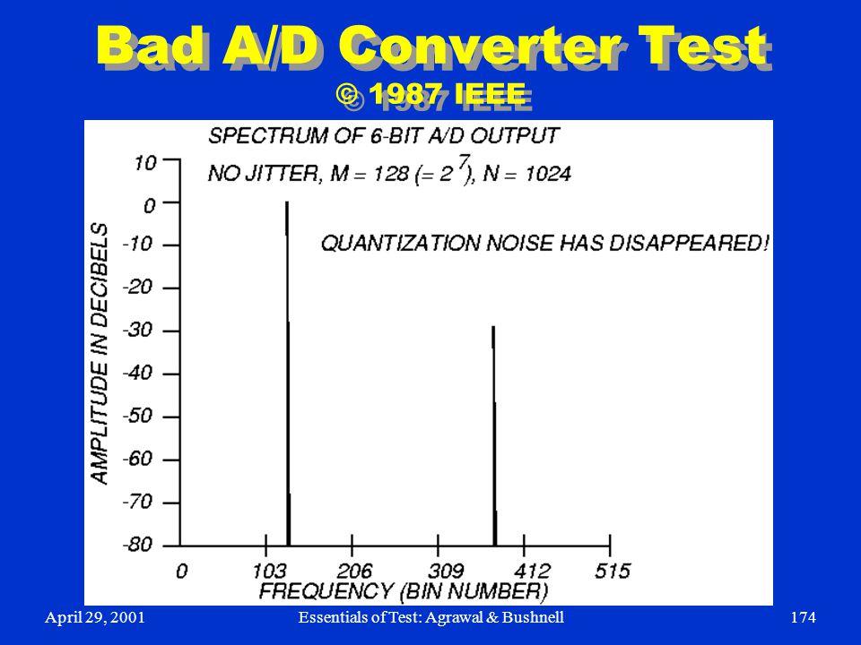 Bad A/D Converter Test © 1987 IEEE