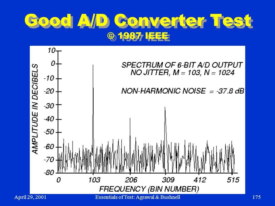 Good A/D Converter Test © 1987 IEEE