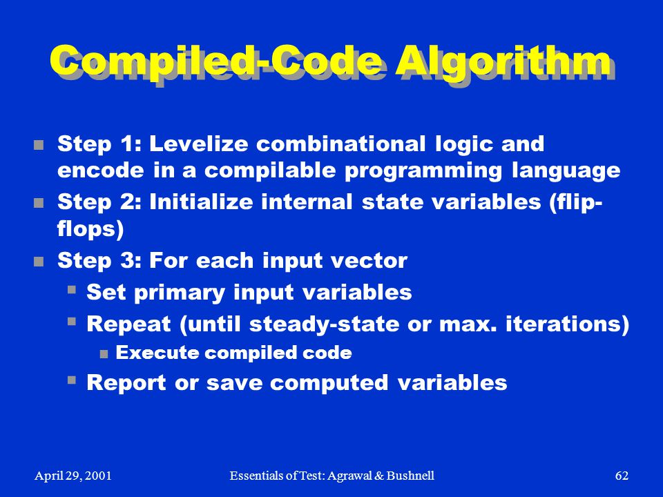 Compiled-Code Algorithm