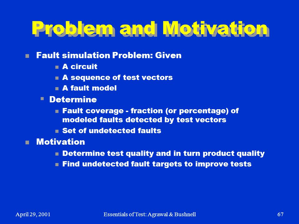 Problem and Motivation