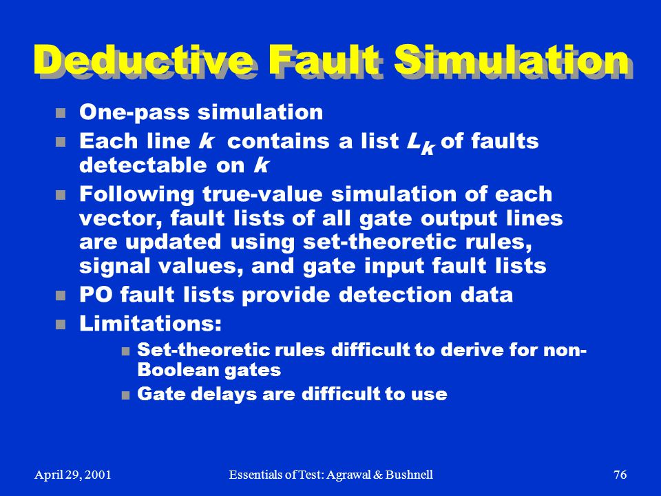 Deductive Fault Simulation