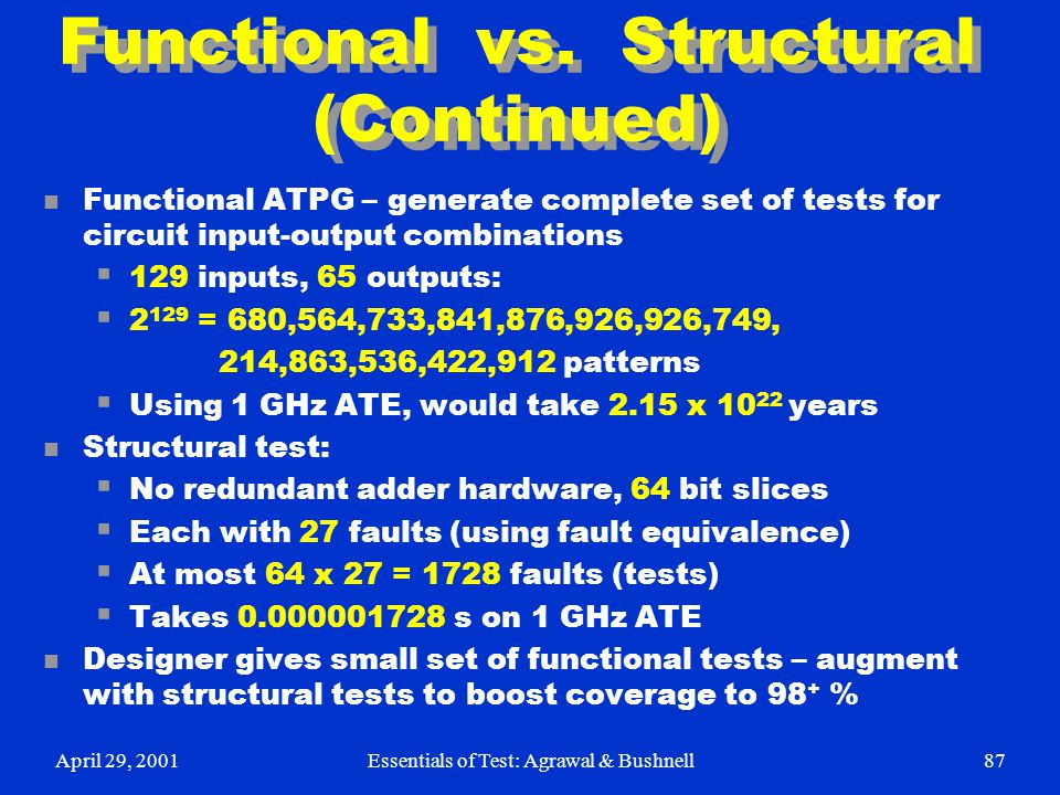 Functional vs. Structural (Continued)