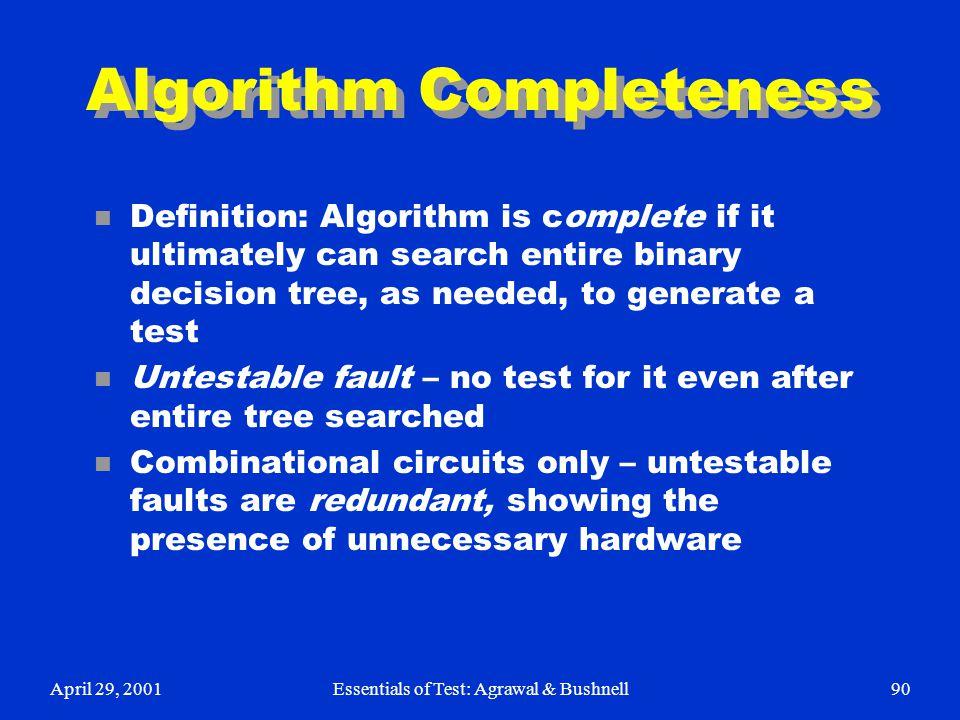 Algorithm Completeness