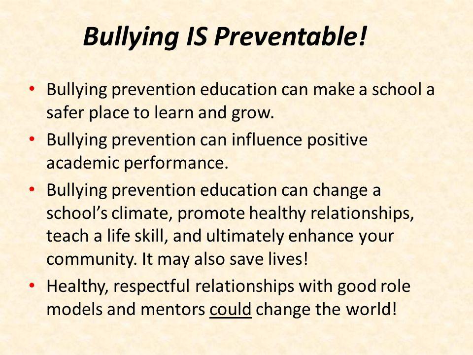 Bullying IS Preventable!