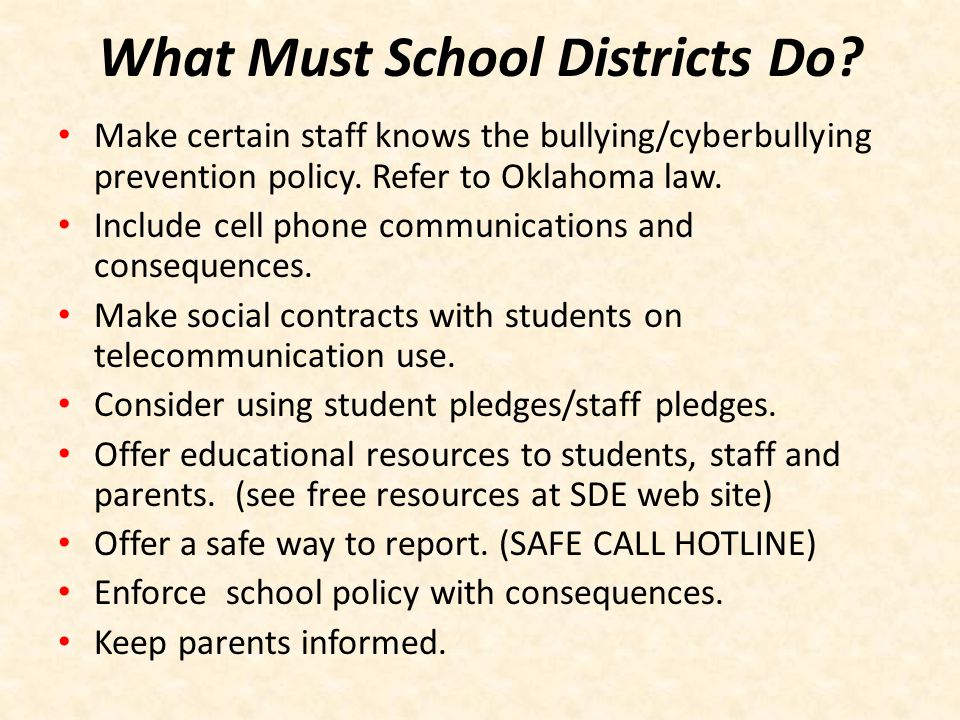 What Must School Districts Do