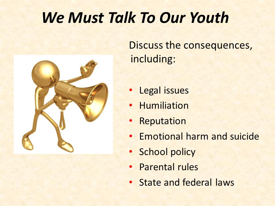 We Must Talk To Our Youth