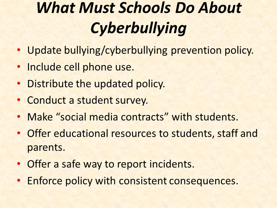 What Must Schools Do About Cyberbullying