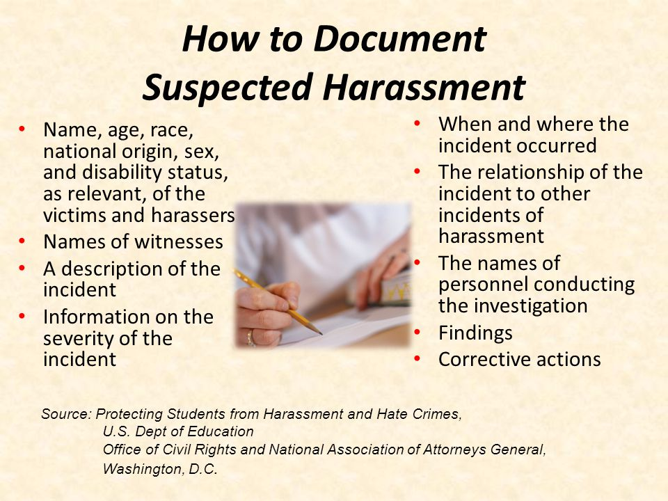 How to Document Suspected Harassment