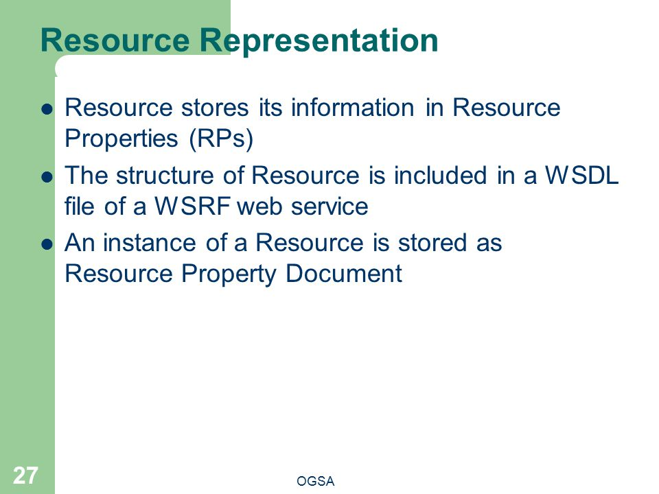 Resource Representation