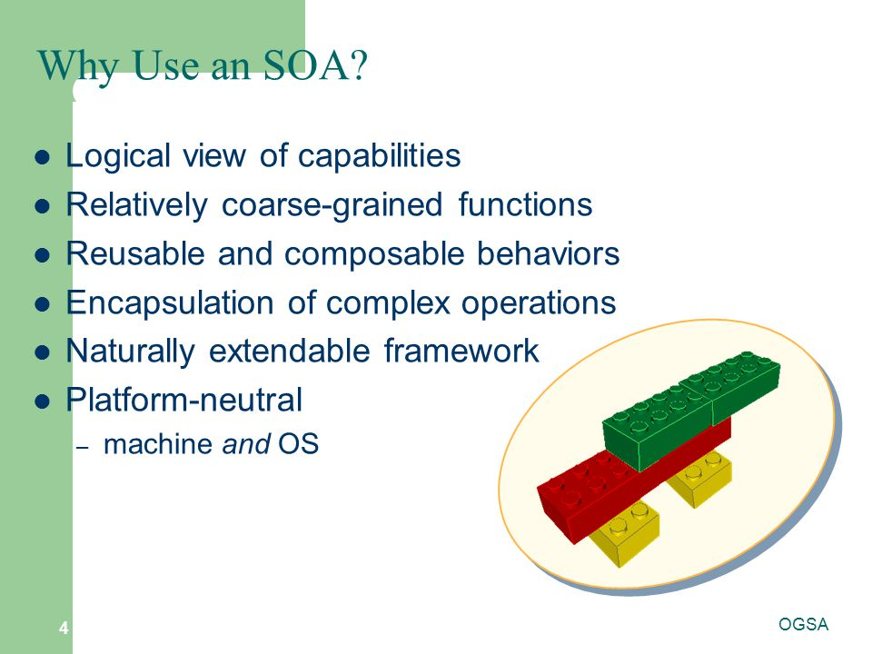 Why Use an SOA Logical view of capabilities