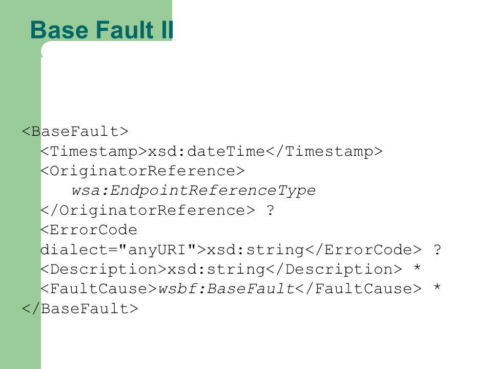 Base Fault II <BaseFault>