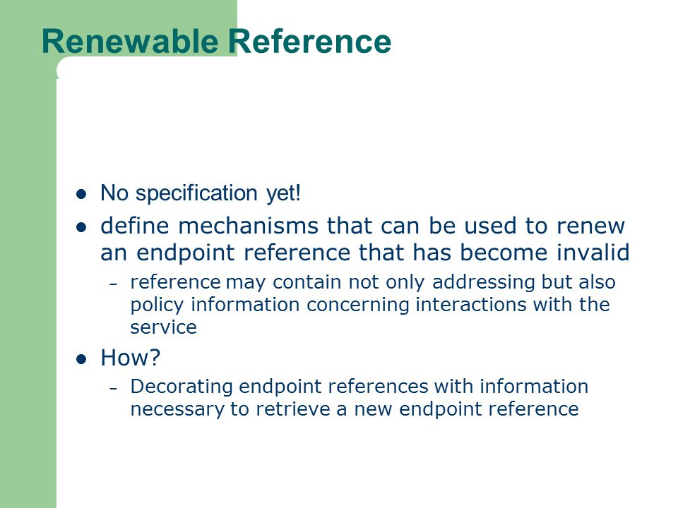 Renewable Reference No specification yet!