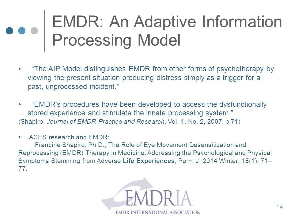 EMDR: An Adaptive Information Processing Model