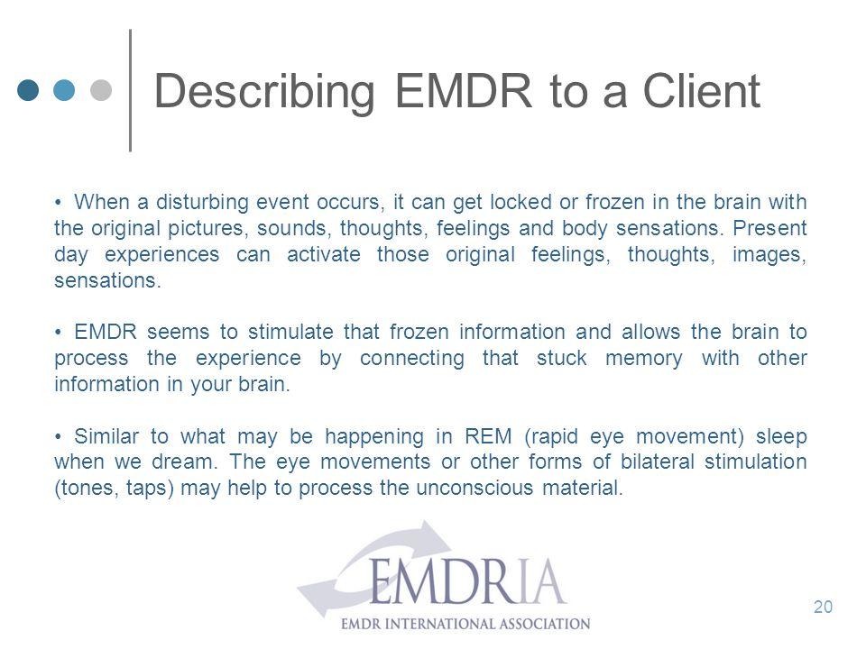 Describing EMDR to a Client