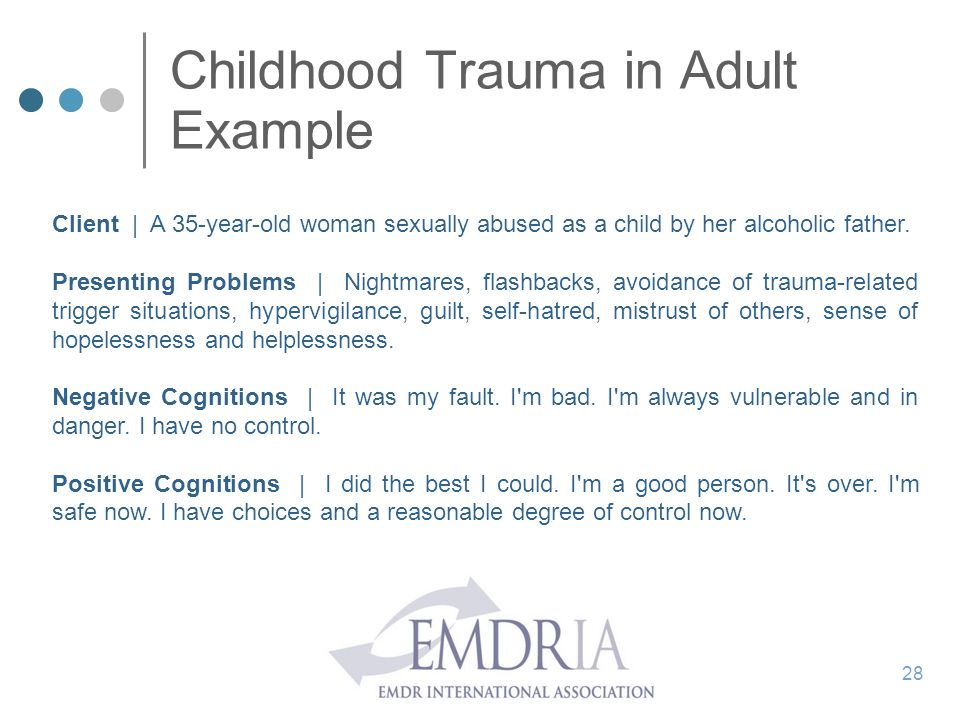 Childhood Trauma in Adult Example