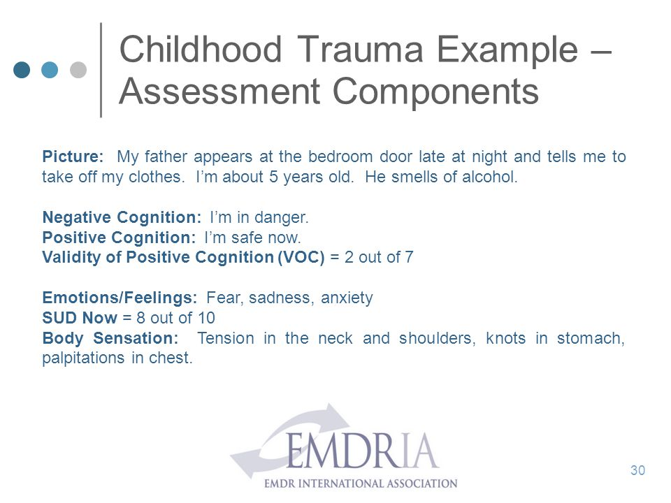 Childhood Trauma Example – Assessment Components