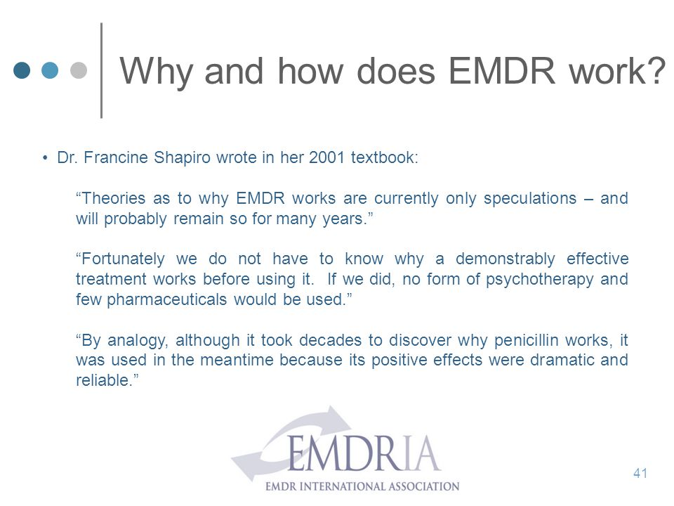Why and how does EMDR work