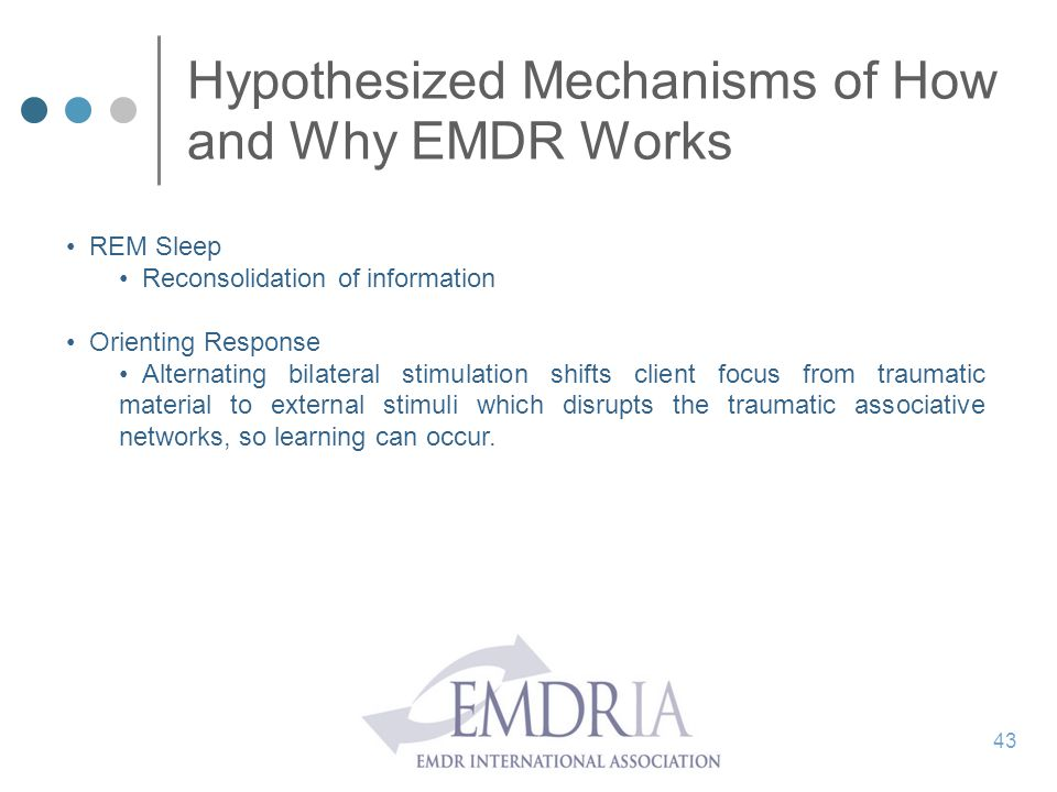 Hypothesized Mechanisms of How and Why EMDR Works