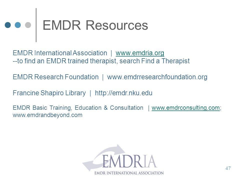 EMDR Resources EMDR International Association | www.emdria.org