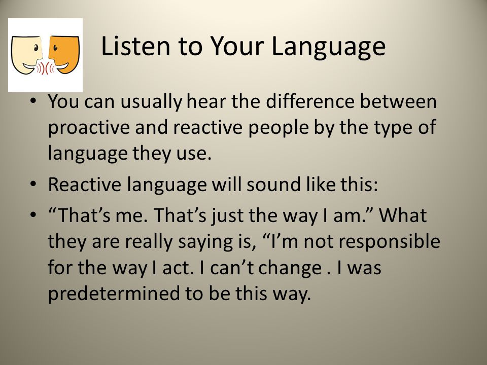 Listen to Your Language