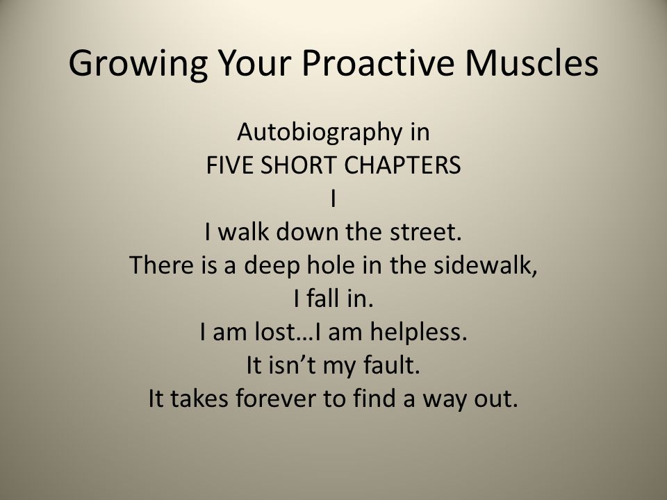 Growing Your Proactive Muscles