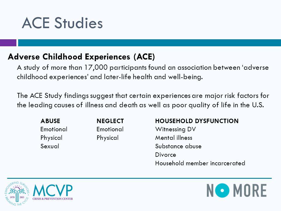 ACE Studies Adverse Childhood Experiences (ACE)