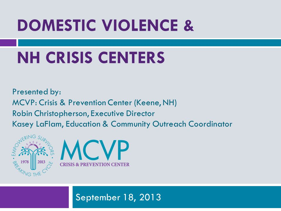 Domestic Violence & NH Crisis centers