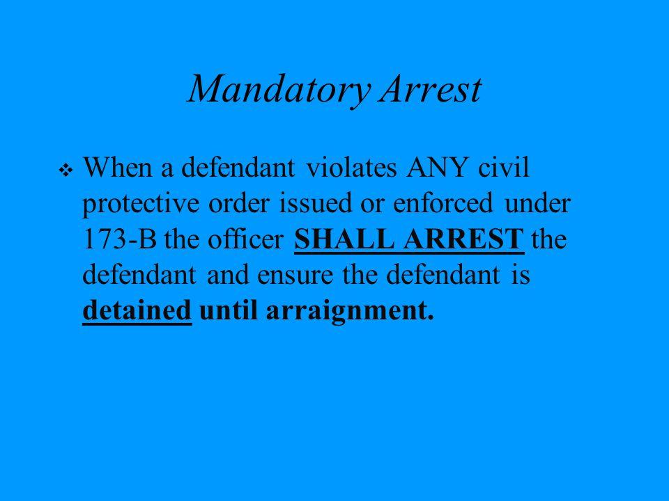 Mandatory Arrest
