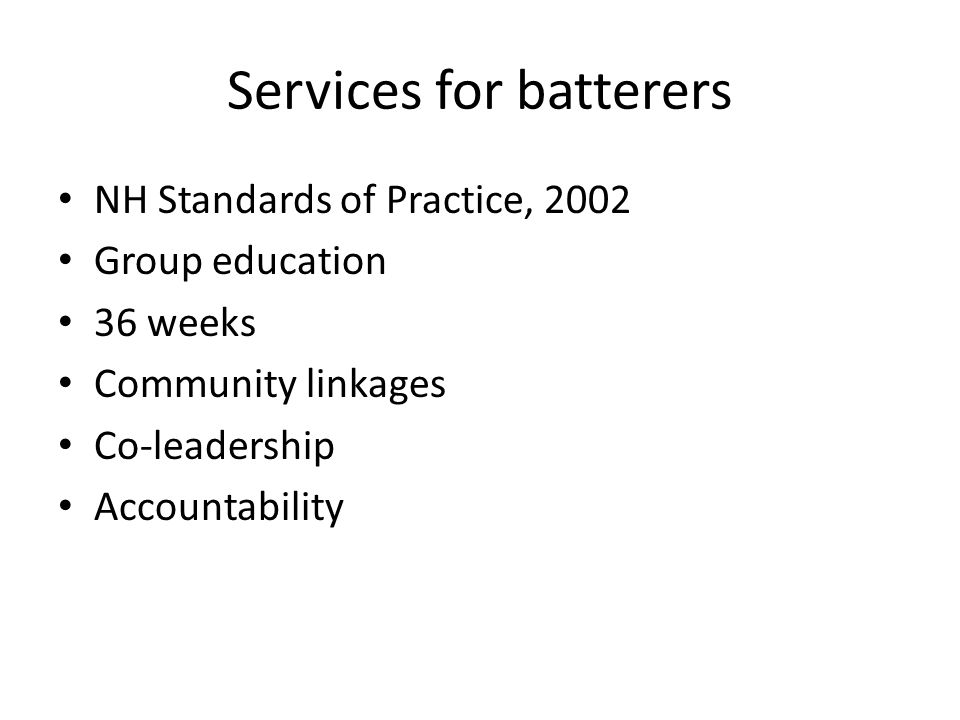 Services for batterers