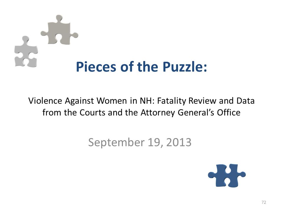 Pieces of the Puzzle: Violence Against Women in NH: Fatality Review and Data from the Courts and the Attorney General's Office