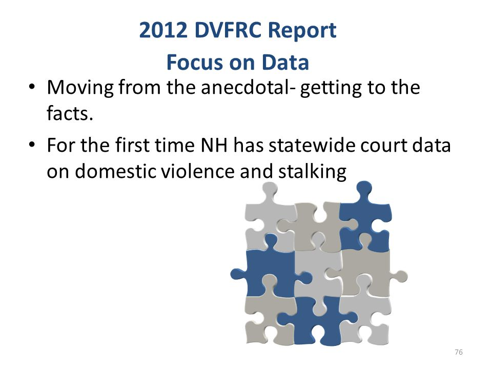 2012 DVFRC Report Focus on Data