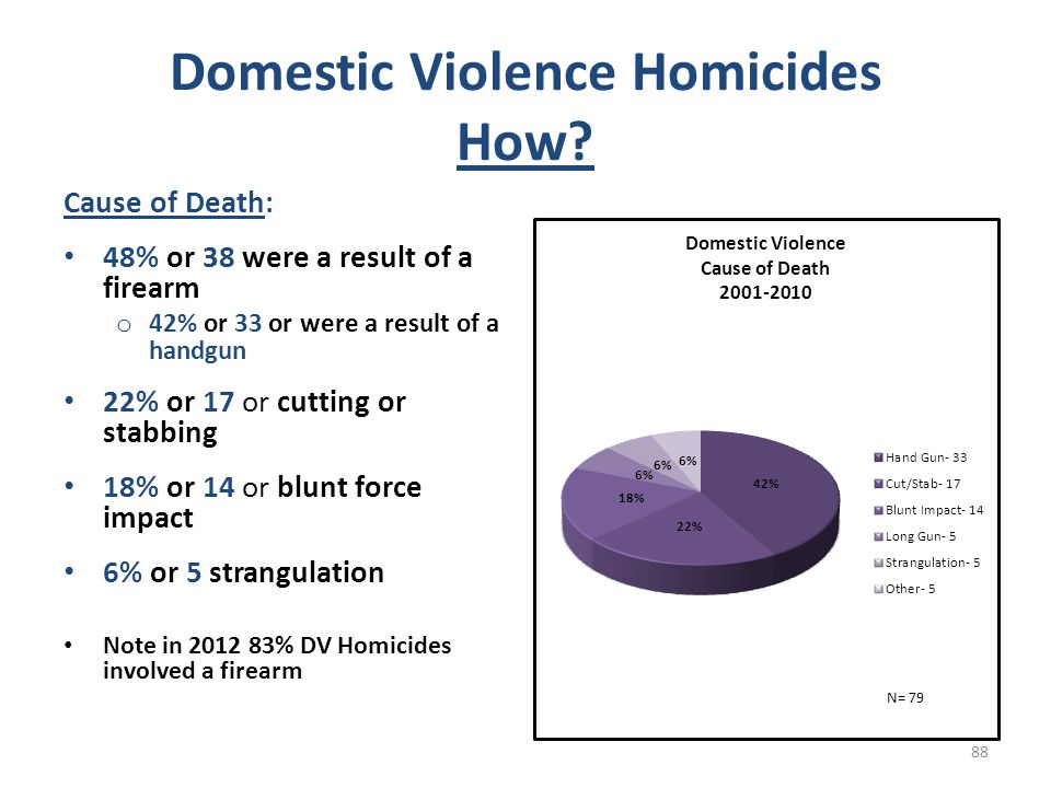 Domestic Violence Homicides How