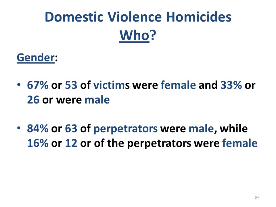 Domestic Violence Homicides Who