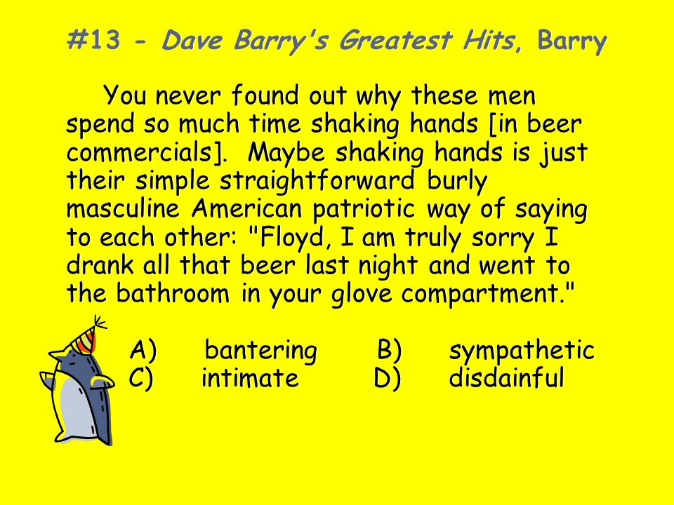 #13 - Dave Barry s Greatest Hits, Barry