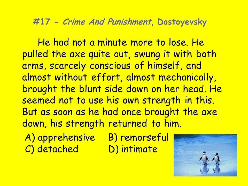 #17 - Crime And Punishment, Dostoyevsky