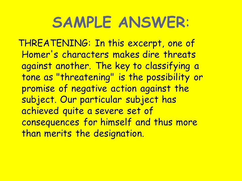 SAMPLE ANSWER: