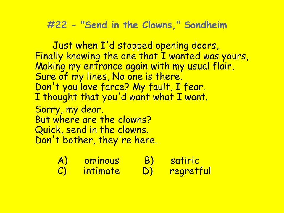 #22 - Send in the Clowns, Sondheim