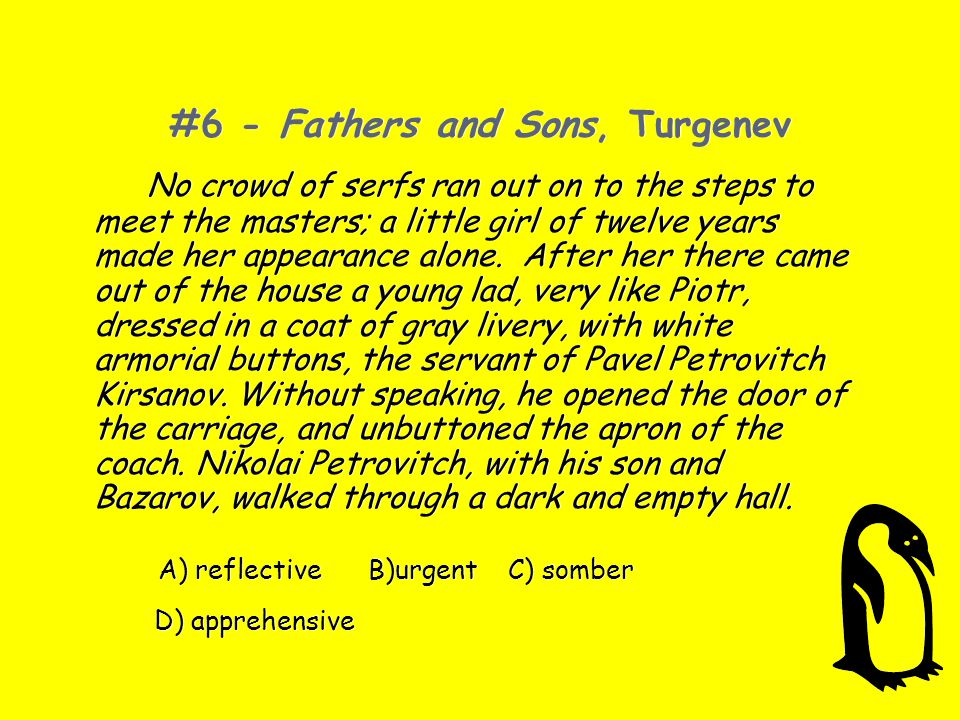 #6 - Fathers and Sons, Turgenev