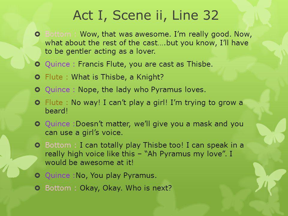 Act I, Scene ii, Line 32