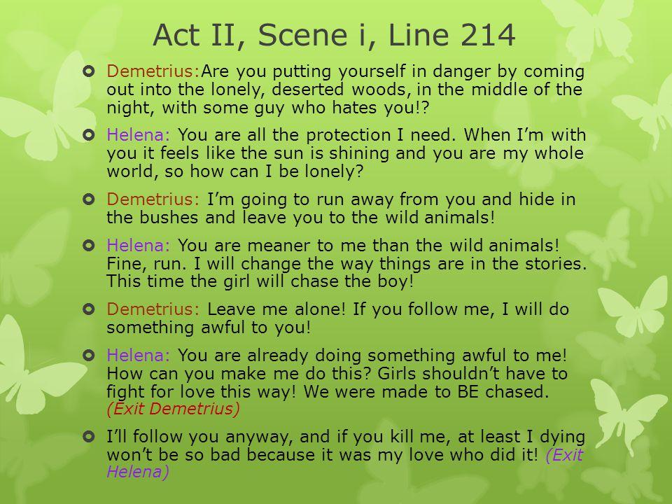 Act II, Scene i, Line 214