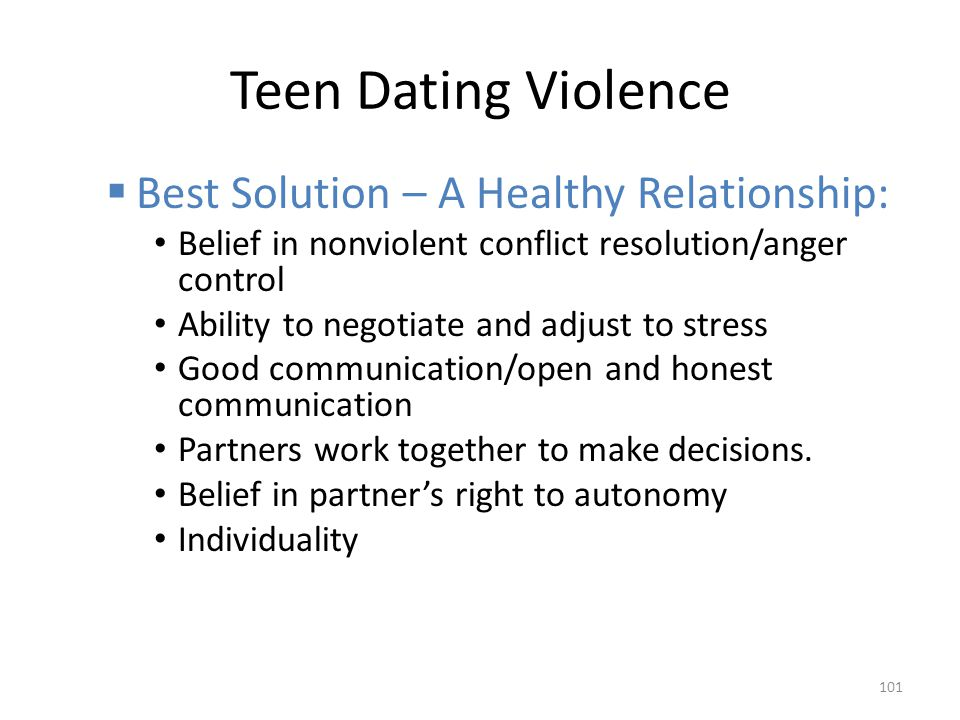 Teen Dating Violence Best Solution – A Healthy Relationship: