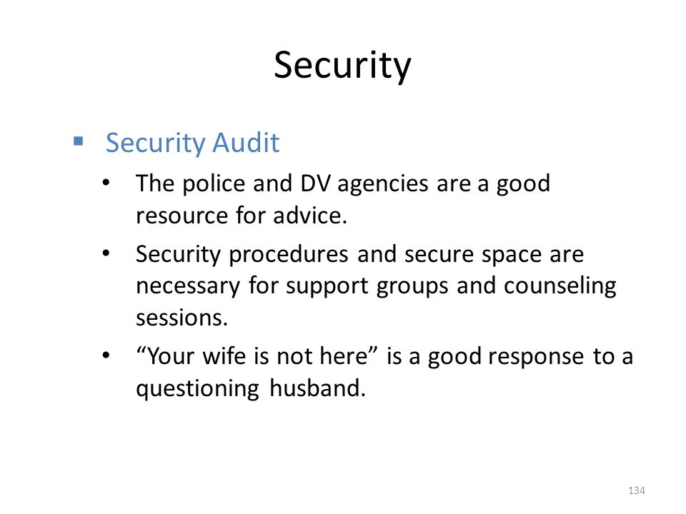 Security Security Audit
