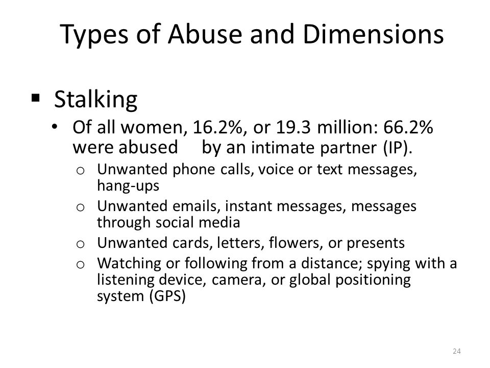 Types of Abuse and Dimensions