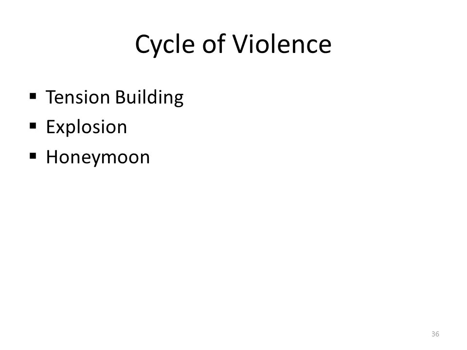 Cycle of Violence Tension Building Explosion Honeymoon
