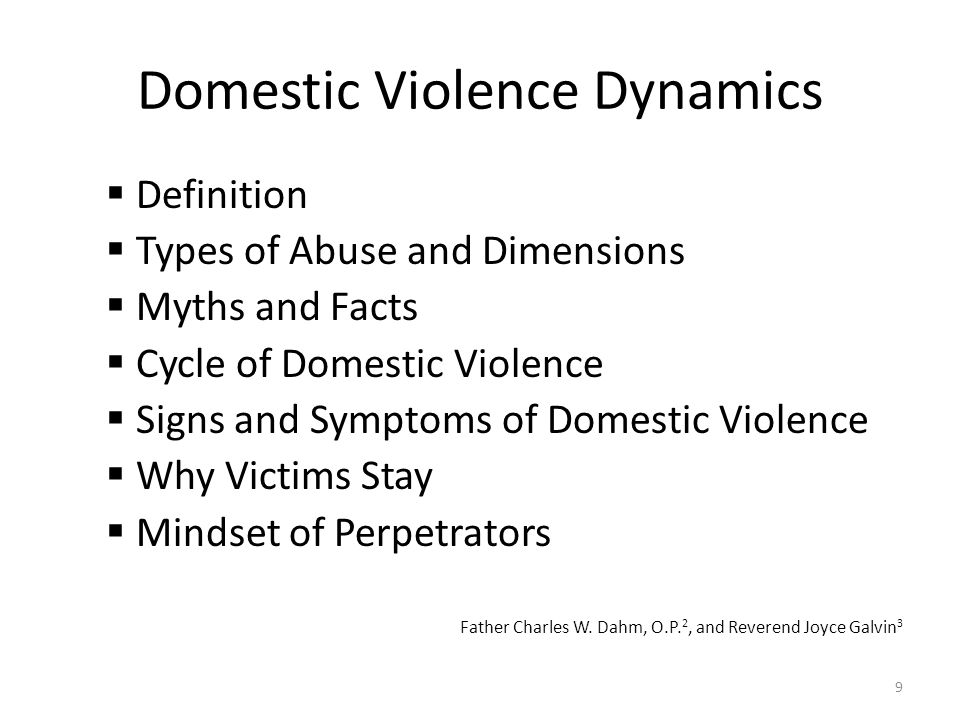 Domestic Violence Dynamics