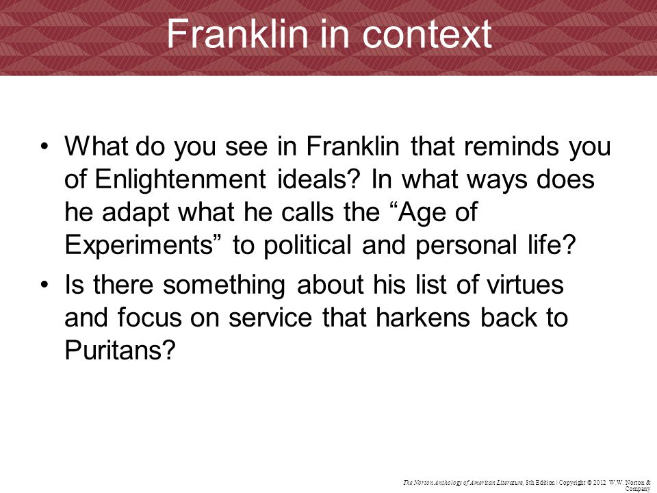 Franklin in context