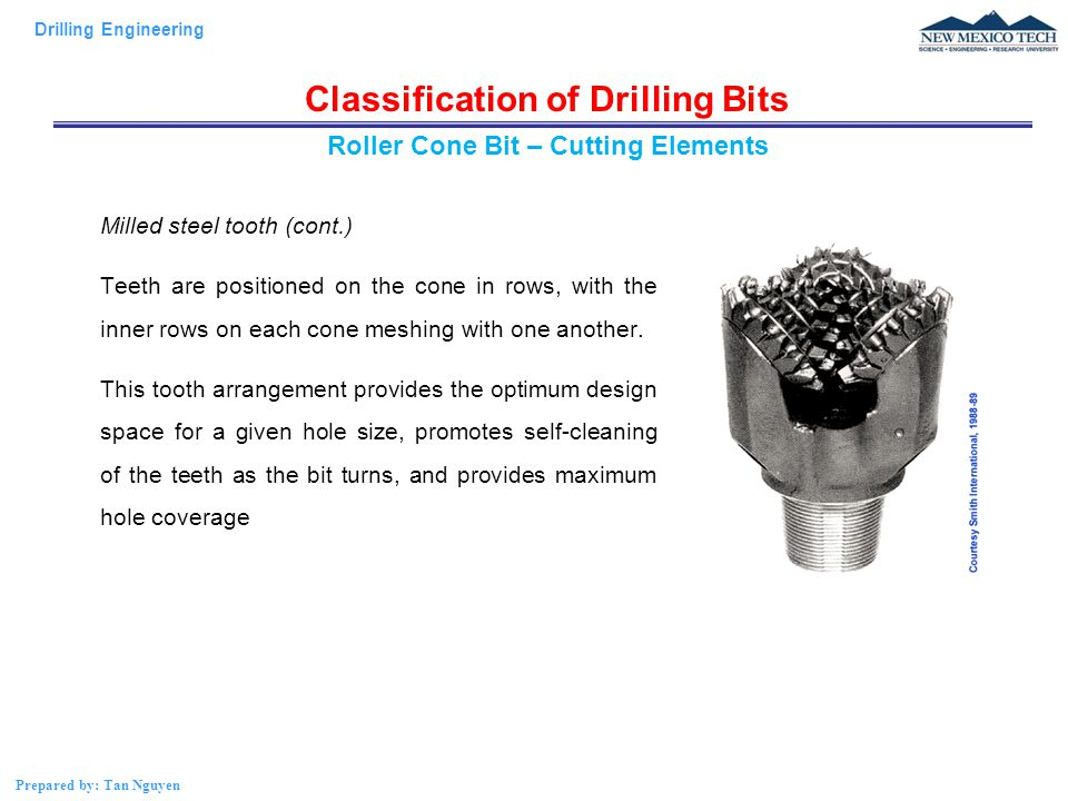 Classification of Drilling Bits Roller Cone Bit – Cutting Elements